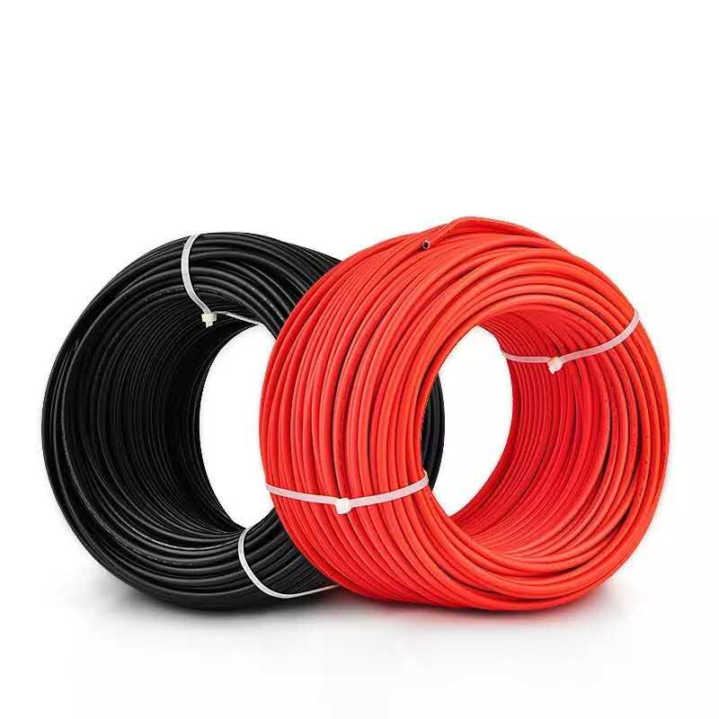 10meters/roll. 6mm2 Solar Cable. 10AWG. 1x6mm2 Solar PV Cable. TUV&UL Certification. Black Or Red Color Optional