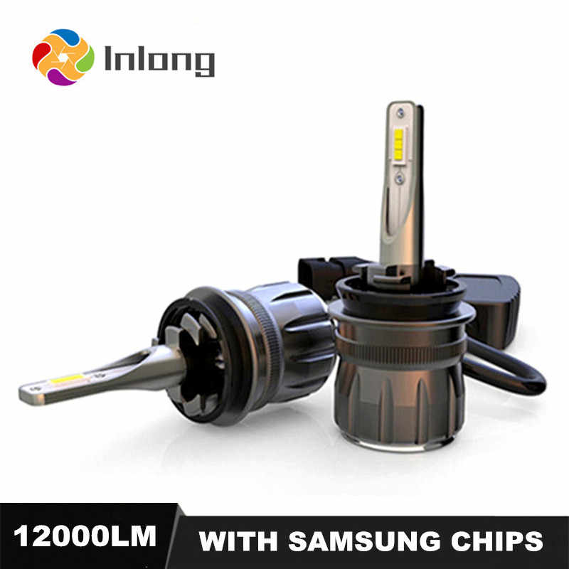 Inlong With SAMSUNG CSP Mini H4 LED H7 12000LM 80W H1 D2S H11 LED 9005 HB3 9006 HB4 D1S Car Headlight Bulbs 6000K Fog Lights 12V