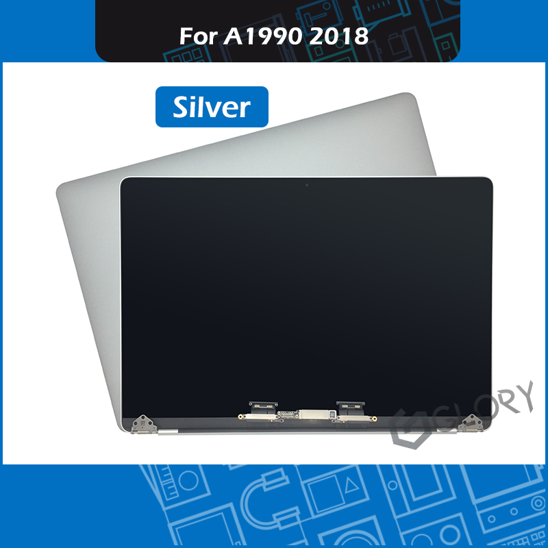 Mid 2018 New Silver Laptop Screen Replacement for Macbook Pro Retina 15 A1990 LCD Screen Assembly EMC 3215 MR932 MR942