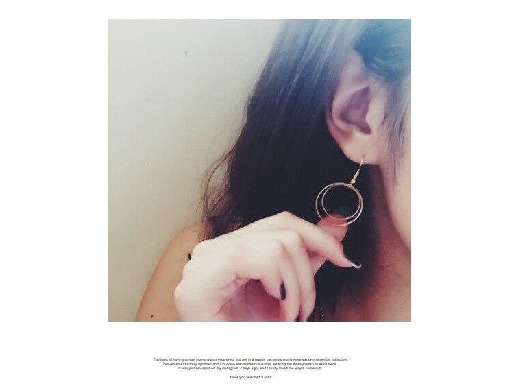 gold earrings 2017 fashion new earrings Simple geometric round earrings geometric lady temperament women stud errings