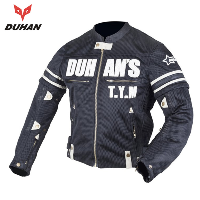DUHAN Motorcycle Short Protective Jacket Off-road Racing Moto Jacket Breathable Mesh Cloth Jacket Motorcycle Protector  for Men herobiker black motorcycle racing body armor protective jacket gears short pants motorcycle knee protector moto gloves