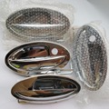 Outside door handle for lifan 520 520i Breez door handle ABS plastic chrome and iron 4 pcs
