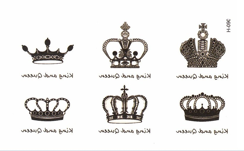1PC New Arrival Water Transfer Crown Waterproof Sticker Sexy Body Art s Temporary Fake s 70 in Massage Relaxation from Beauty Health