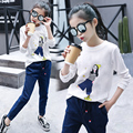 Tops for Girl Cotton Tees Teenager Spring T-Shirt Casual Kids Costumes Infant Clothes Children Clothing O-neck 5 7 9 11 13 Years