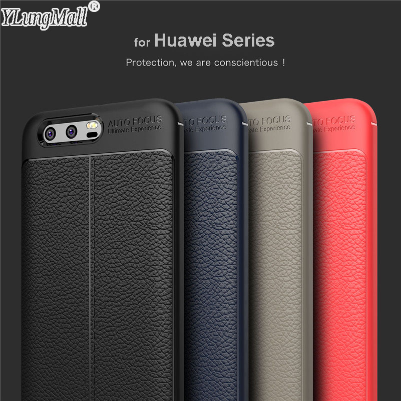 YLungMall Fundas Coque Case for Huawei Honor 10 9 8 Lite Pro V9 6X 7X Play Enjoy 7 8 Plus Case Soft Leather Protector Cover