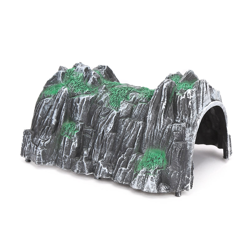 Plastic Rockery Wooden Train Track Accessories 17.5*13.5*9.5cm Tunnel Track Train Slot Wood Railway Toys Bloques De Construccion