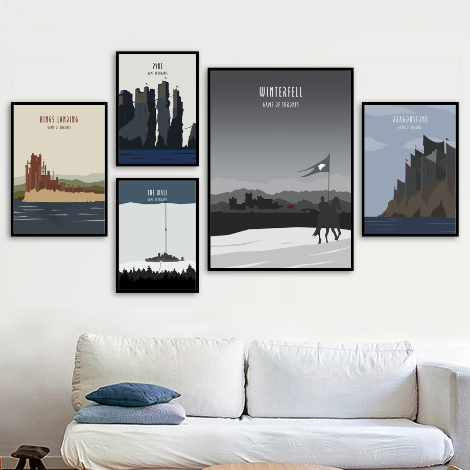 Game Of Thrones Movie Poster Nordic Canvas Art Print Wall Painting Posters And Prints Wall Pictures For Living Room Home Decor