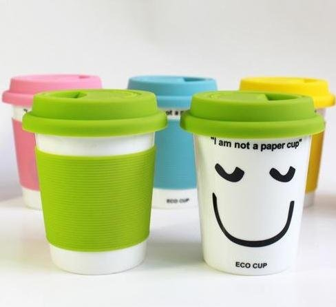 High Quality Ceramic Mug Cup,Office Water Cup,Double-Wall PP Covering Mug (I am not a paper cup) Free shipping Кубок
