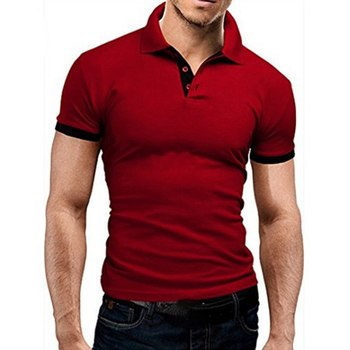 Summer Brand Men Polo Shirt Fashion Cotton Short Sleeve Polo Homme Mens Slim Fit Camisa Polo Solid S