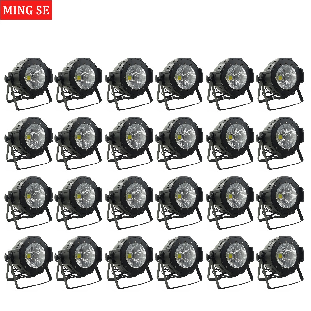 24units LED Par COB Light 100W High Power Aluminium DJ DMX Led Beam Wash Strobe Effect Stage Lighting,Cool White and Warm White