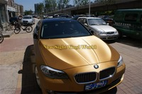 High Quality Gold Brushed Wrap Vinyl Film For Car Decals Phone PAD Computer Cover Air Bubble Free Size: 1.52*30M/Roll