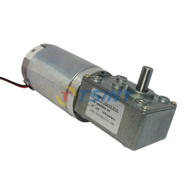 Buy dc 12v 160rpm high torque worm for Electric motor with gear reduction