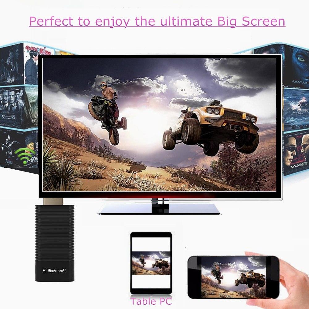 5G 1080P MiraScreen TV Dongle DLNA Miracast Air Mirroring WiFi Display Receiver