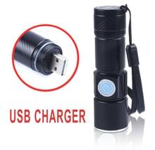 50pcs/lot Ultra Bright Rechargeable LED Torch CREE Q5 3 Mode USB LED Flashlight Ultra Violet UV Flashlight Blacklight Detector