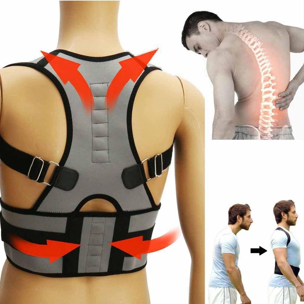 HEYME Magnetic Posture Corrector Neoprene Back Corset Brace Straightener  Shoulder Back Belt Spine Support Belt for Men Women A-in Braces   Supports  from ... 7cb9165f0