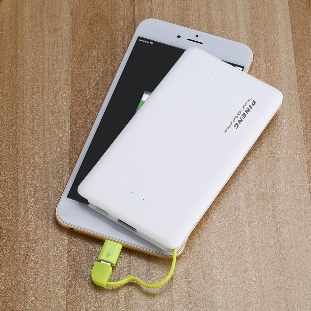PINENG 5000mAh Power Bank Fast Charging External Battery Portable Charger Li-polymer Battery For Smart Phones