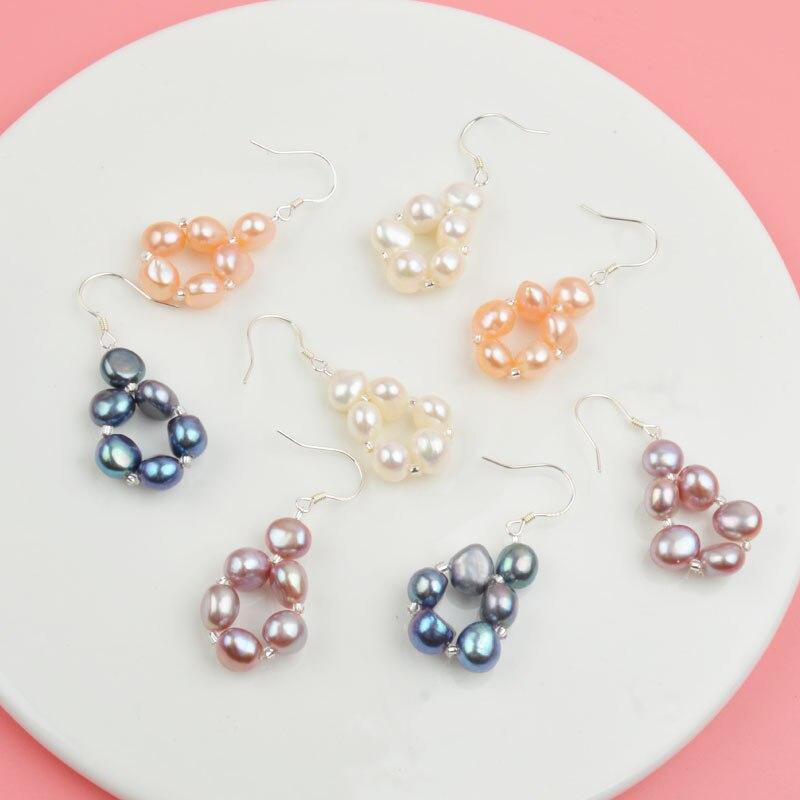 HTB1B KtXROD3KVjSZFFq6An9pXav ASHIQI Natural Freshwater Pearl Jewelry Sets & More Hand-knitted Necklace Bracelet Earrings for Women NE+BR+EA