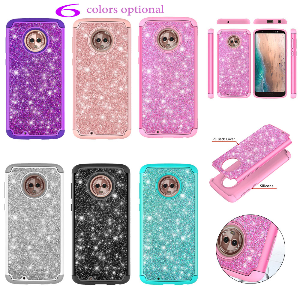 for Smartphone Mote G 6 72.3x153.8x8.3mm For Motorola Moto <font><b>G6</b></font> case XT1925-13 XT1925-10 XT1925-7 XT1925-12 2 in <font><b>1</b></font> TPU Phone Cover image