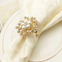 12PCS Hotel Restaurant Metal Snowflake Napkin Ring Buckle Zinc Alloy Gold/Silver