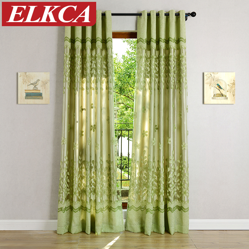 Green Pink Tulle Curtains For Living Room Kitchen Curtains For The Bedroom Custom Made Window