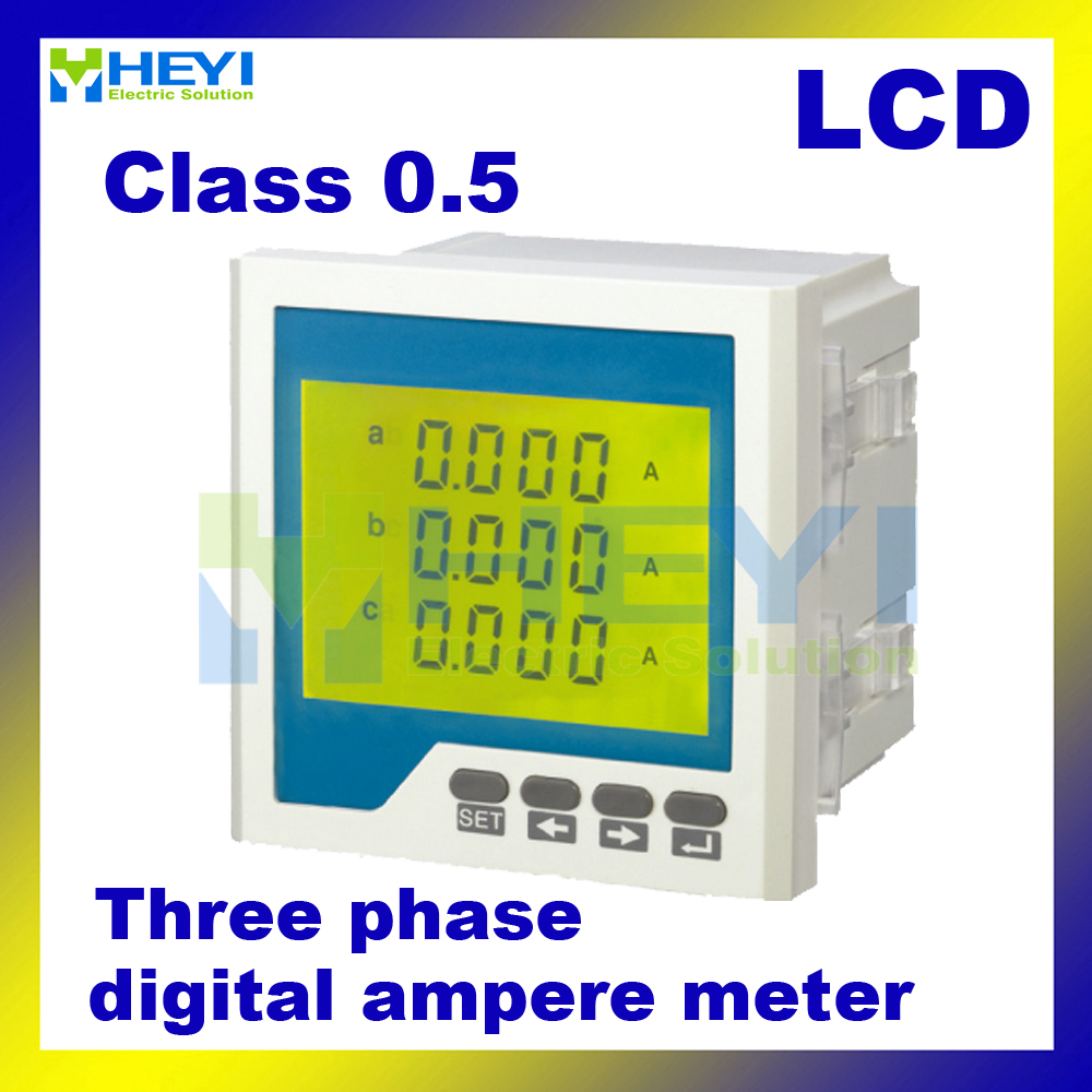 three phase ac digital ampere meter digital current meter ampere meter lcd meter hy 3aa in. Black Bedroom Furniture Sets. Home Design Ideas