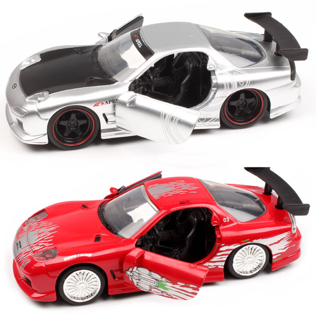 Jada 1:32 Scale FAST AND FURIOUS dom's 1993 Mazda RX7 FD3S metal ...