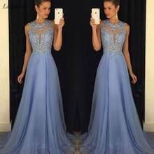 Женское длинное кружевное шифоновое платье без рукавов вечернее