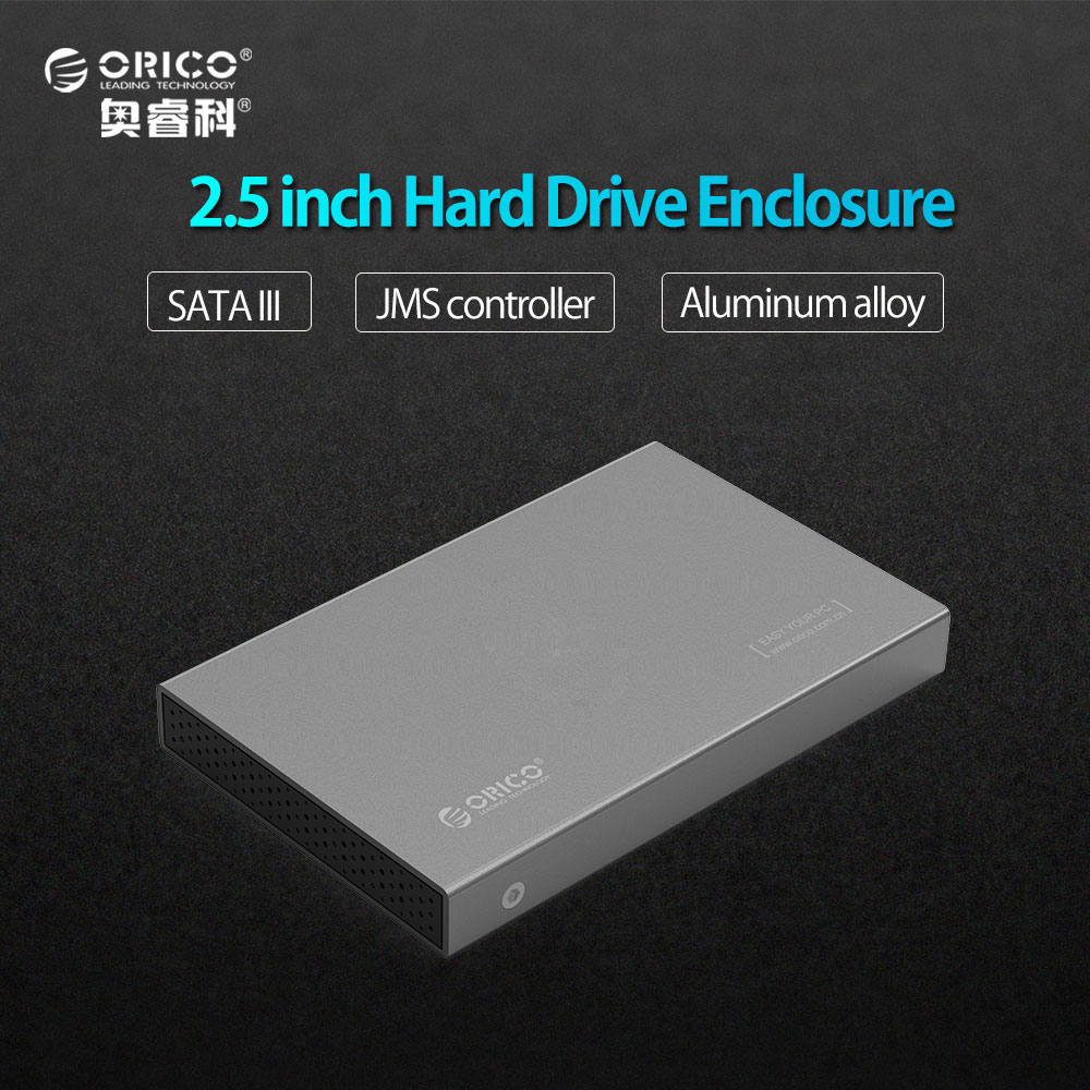 ORICO Aluminum USB3 0 to SATA3 0 5Gbps 2 5 inch Hard Drive Enclosure Support 7mm