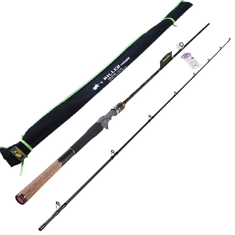 casting fishing rod 2 section power m lure6 24g