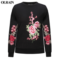 Olrain 2017 Autumn And Winter New Fashion Casual Fleece Tracksuits Funny Nothing Letter Print Sweatshirt Rose
