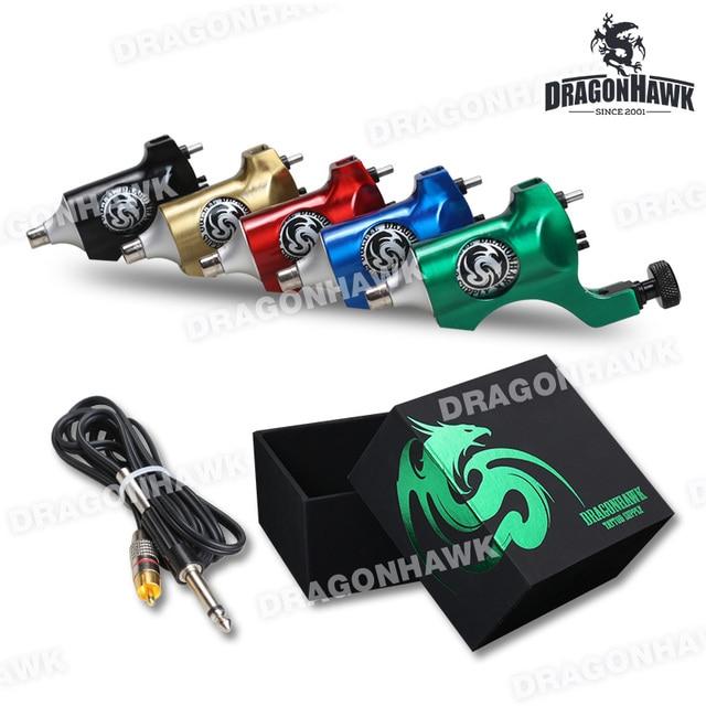 DragonHawk Rotary Tattoo Machine Shader  Liner Tattoo Gun Tattoo Rotary Machine StealthTatoo Motor Machine RCA Clip Cord