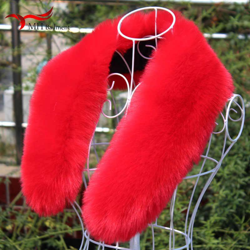 模造キツネのアライグマの毛皮の襟帽子冬新フェイクファー偽毛皮の襟スカーフダウンジャケットキャップコートの襟の冬女性