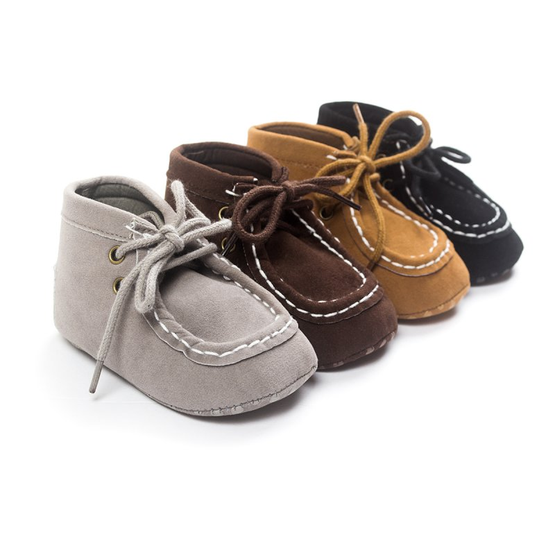 Baby Boy Shoes High top Khaki Lace up