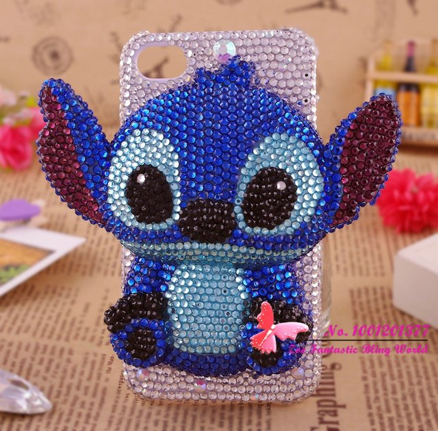 High quality 3D bling diamond Stitch cell phone case for iphone 5 hot sales shining phone cover for iphone 4/4s 249