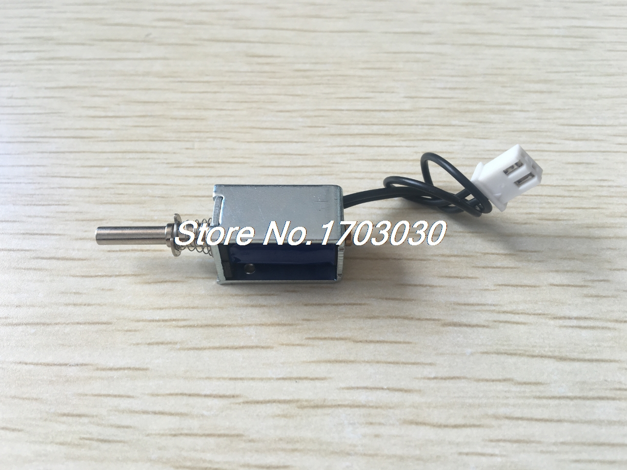 DC 12V 0.3A 3.6W 3mm 35g Open Frame Push Pull Solenoid Electromagnet Actuator