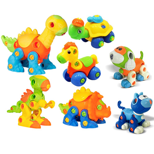 Take Apart Toys for Kids,DIY Disassembly Assembly Toys for Children Cat Dog and dinosaur Blocks for children Educational Toys image