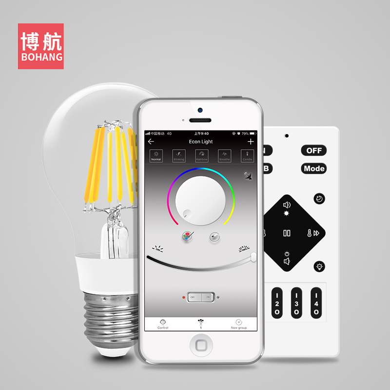 E27 Smart LED Bulb Lamp Light 5W 2700 6500K 110V 220V Bluetooth APP Remote Control Adjustable
