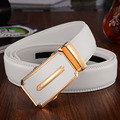 White business automatic buckle men leather leather belt leisure belt in Korean youth