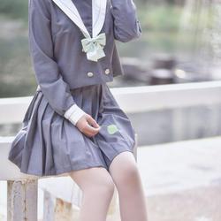 Новый японский/корейский милый костюм моряка для девочек школьная униформа для студентов короткие/длинные рубашки + юбка + наборы галстуков