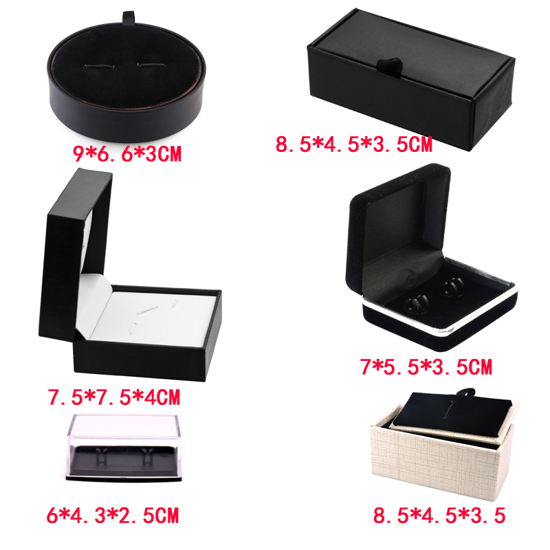 Black Cufflink Box Velvet Show Cases Jewelry Show Box For Gift Jewelry Storage Organizer Case Jewelry Wholesale Price Of Factory