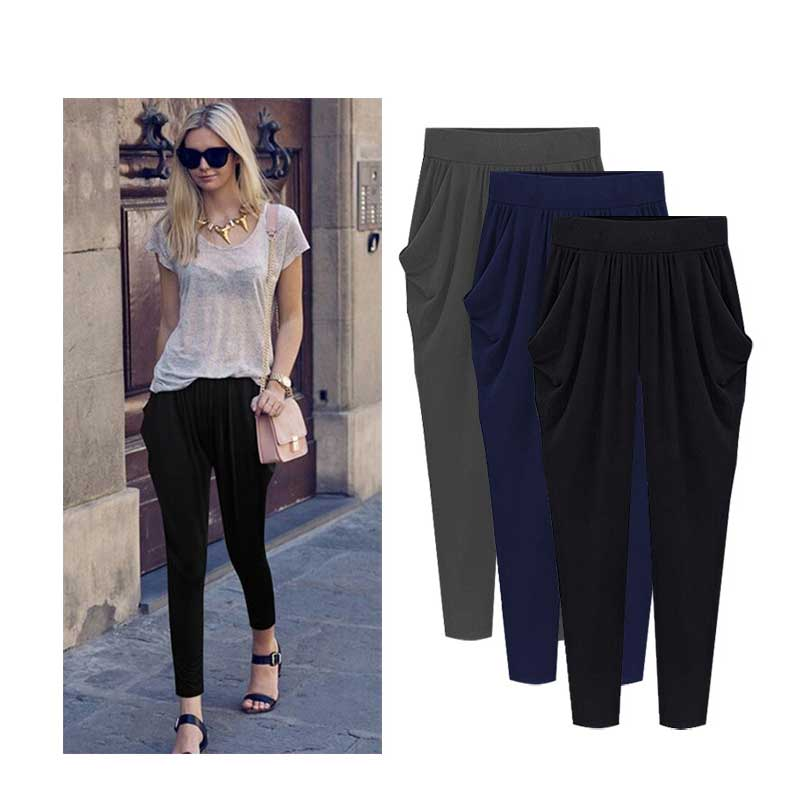 Women 8XL Oversized Wide Leg Pants Black Casual Loose Harem Pants Streetwear High Waist Pleated Harem Trousers Large Size