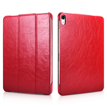 For iPad Pro 12.9 2018 Flip Leather Case Slim Microfiber Tablet Business Foldable Stand Smart Cover for