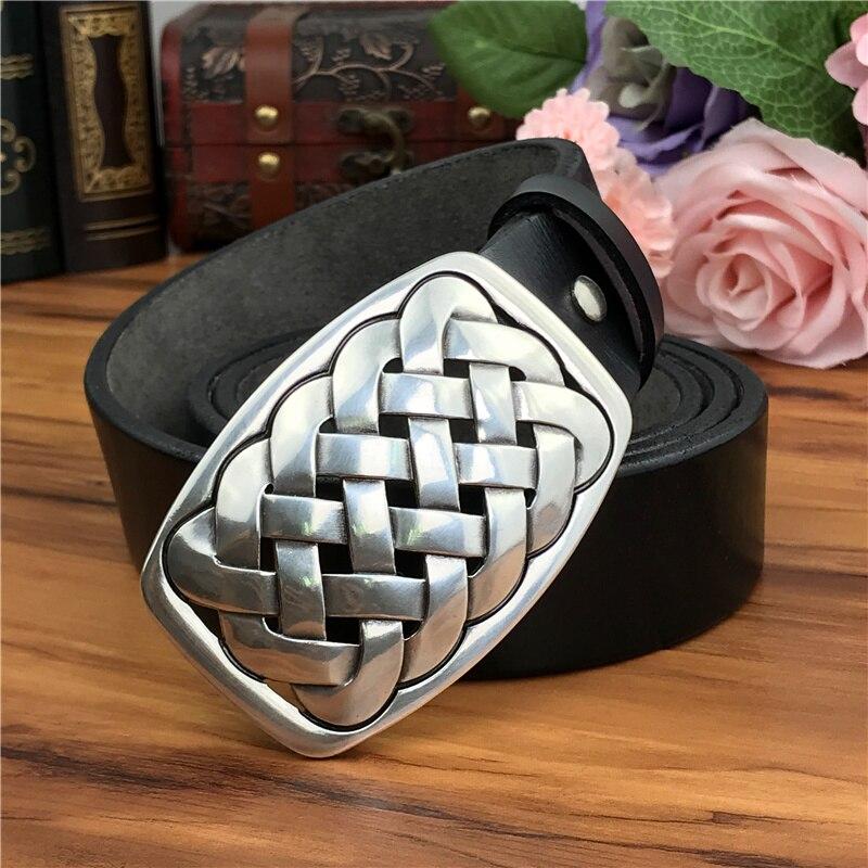 Quality Metal Belt Buckle Luxury Leather Belt Men Ceinture Homme Genuine Leather Belts For Men Jeans