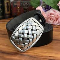 Quality Metal Belt Buckle Luxury Leather Belt Men Ceinture Homme Genuine Leather Belts For Men Jeans Male Strap Riem MBT0588