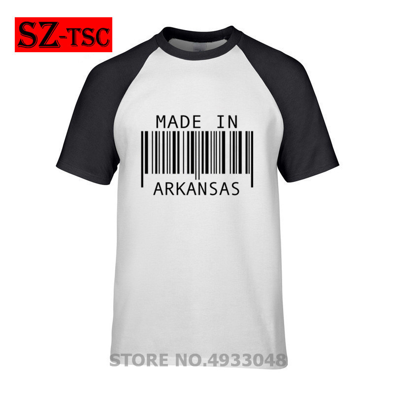 2019 summer New High quality men T shirt casual short sleeve o-neck 100% cotton t-shirt men brand Made in <font><b>Arkansas</b></font> tee shirt image