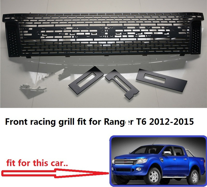 Racing grill grille ABS black front grill trim fit for Ranger wildtrak T6 txl pickup CAR 2012-2015 txl желтый
