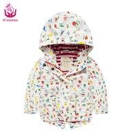 2017 Ucanaan frühling (2-7) Jahre alt baby mädchen Cartoon weißen jacke wasserdicht warmen mantel mode-stil für kinder
