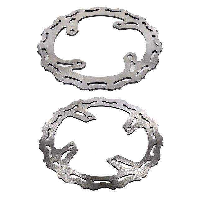 NICECNC Rotors de frein avant et arrière | Pour Kawasaki KX250 KX125 2006 2007 KX250F KX450F 2008-2006 KLX450R 2014-2008 KX 2015