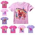 Shopkins Elf Duendes T Shirt Das Crianças Dos Desenhos Animados Roupas de Verão Tops Tees Camisas Meninos Meninas Irritar Raglan Camisas de Manga Curta