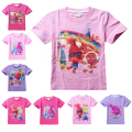 Shopkins Elf Trolls T Shirt Children Cartoon Clothes Summer Tops Tees Baby Boys Girls Shirts Ruffle Raglan Shirts Short Sleeve